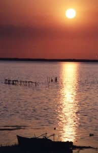 Tramonto-sul-lago-