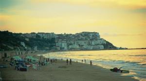 spiaggia Rodi Garganico tramonto